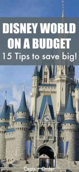 15 Tips to save hundreds on a Disney World vacation! Disney can be enjoyed even on a budget with these money saving tips.