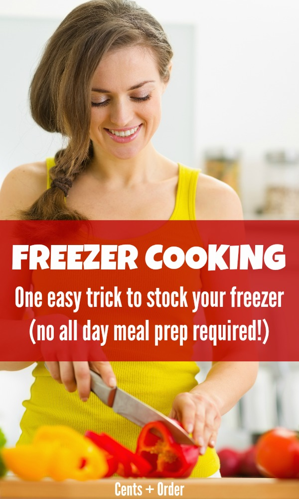 Freezer meals without those crazy prep sessions? Yes, please! Save time and stock your freezer with meals with this trick