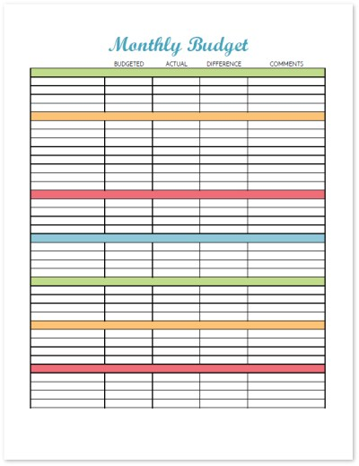 Use this blank budget worksheet and choose your own categories to organize your budget. This printable budget binder includes 20+ pages of financial printables for 2017. Find out how to set up your binder and get your finances organized today!
