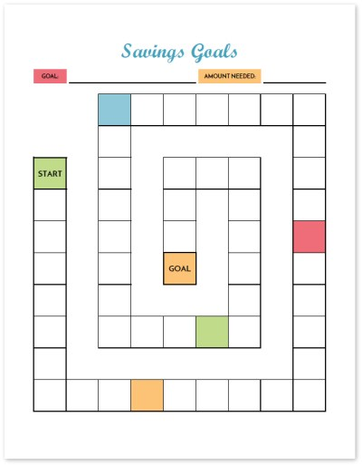 Great visual to keep you motivated towards your savings goals! This printable budget binder includes 20+ pages of financial printables for 2017. Find out how to set up your binder and get your finances organized today!