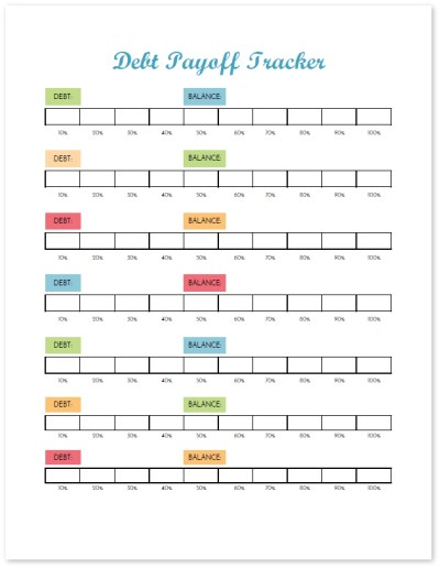 Visually track your progress on your debt payoff with this debt tracker. This printable budget binder includes 20+ pages of financial printables for 2017. Find out how to set up your binder and get your finances organized today!