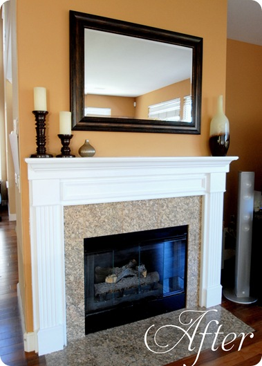 fireplace after text