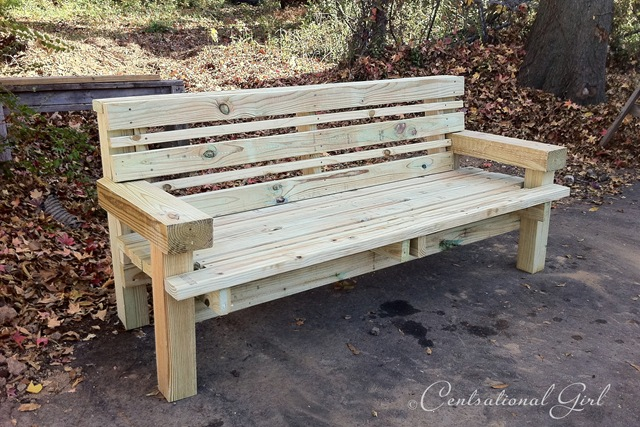 build wooden bench