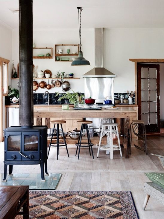 mixed counter stools farmhouse