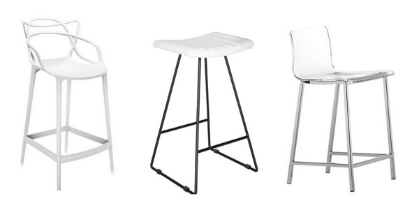 modern white counter stools