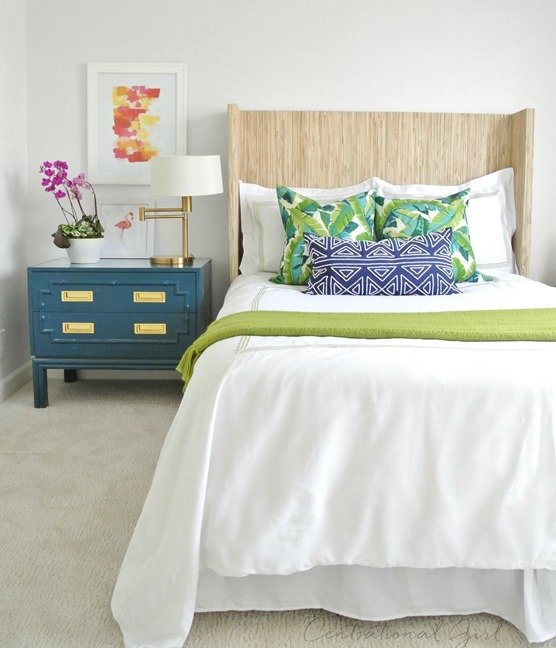 diy grasscloth wingback headboard