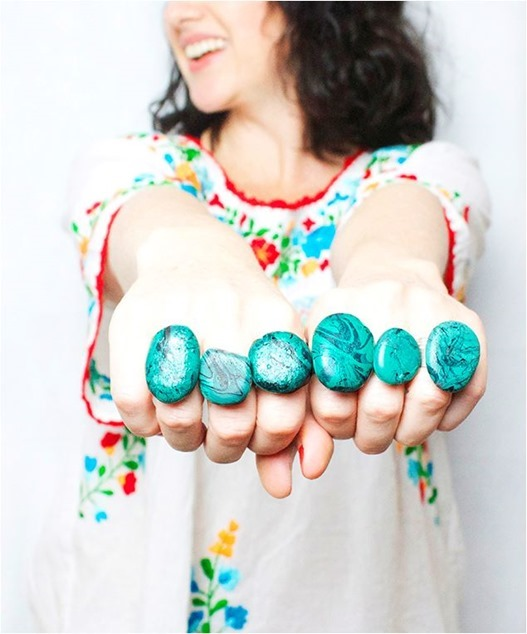 faux diy turquoise rings