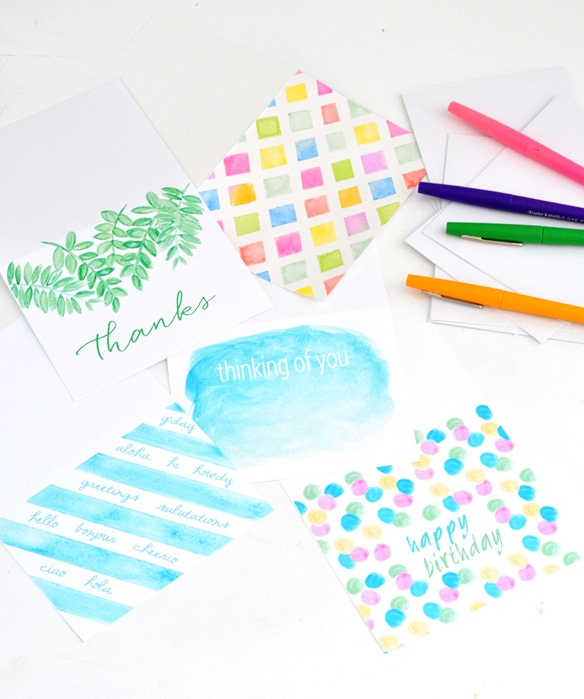 note cards watercolors