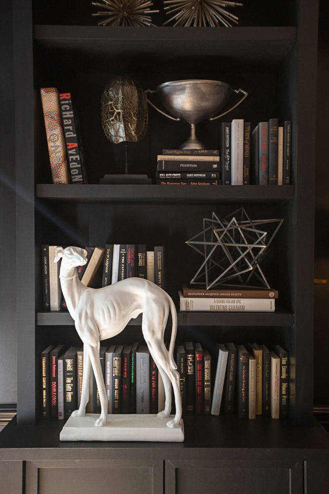 black bookcases