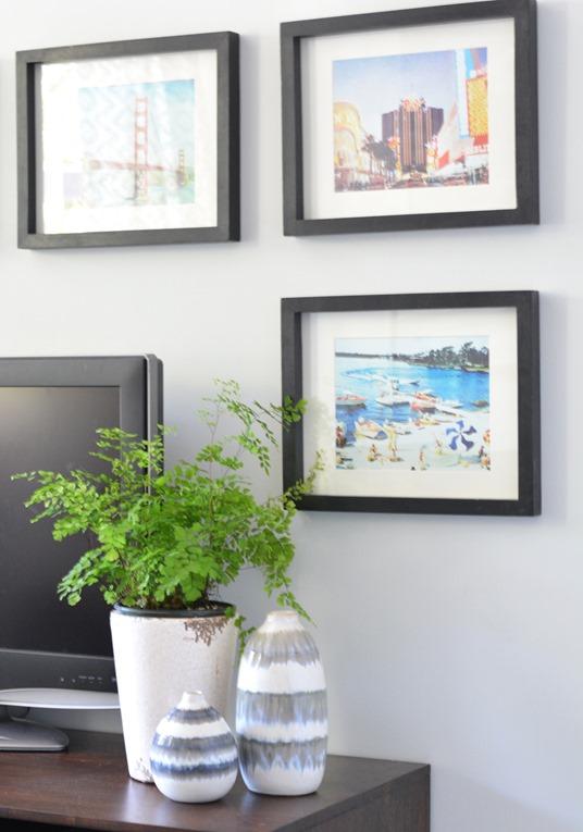 framed calendar art