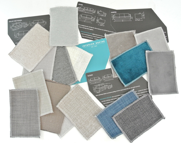 interior define fabric swatches