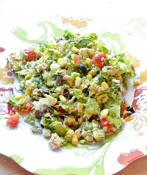 southwest bbq ranch chopped salad