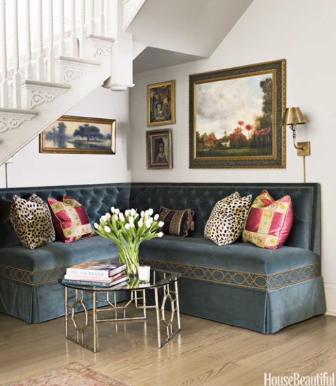 banquette under stairs