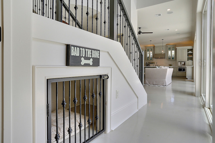 pet space under stairs