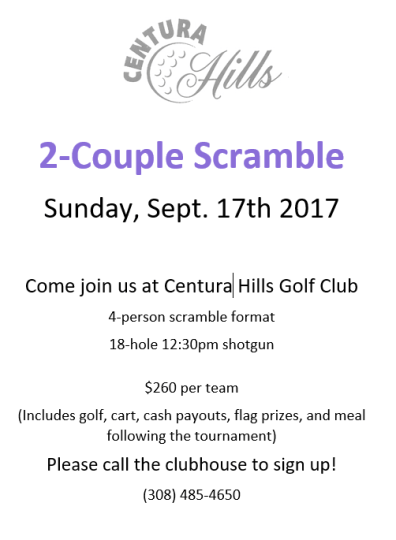 2-couple scramble - centura hills golf club