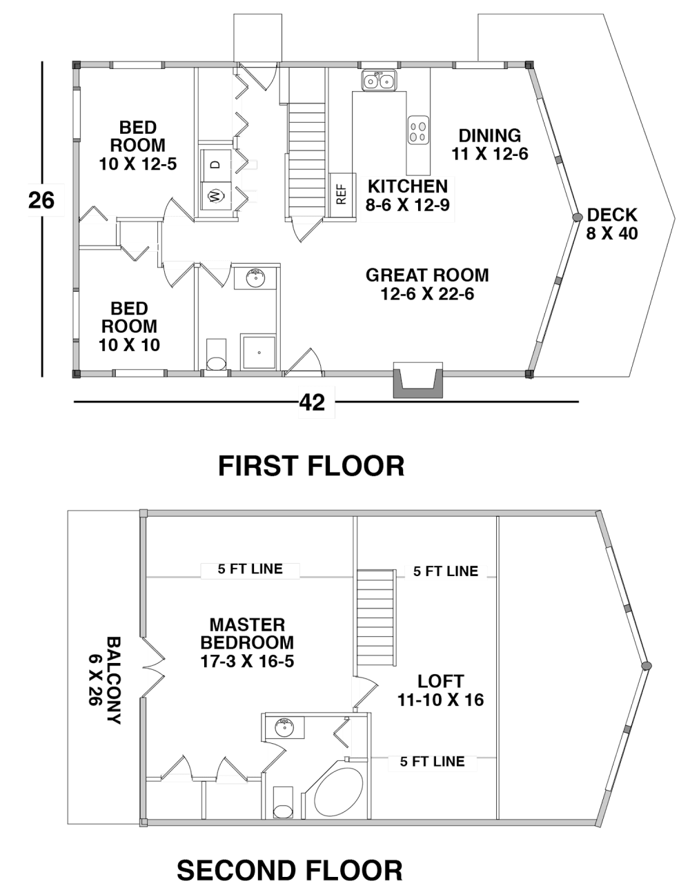 Floor Plan for the OVERGAARD by Century Cedar Homes