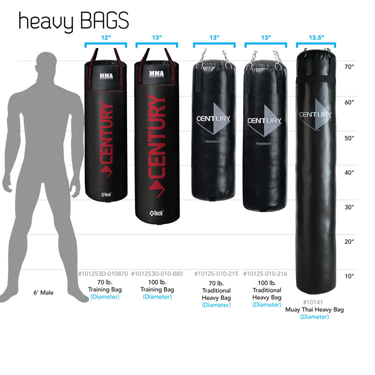 OUUO Heavy Punching Bag UNFILLED Kick Boxing MMA Training for Adults and Kids