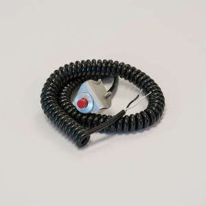 Precision Performance coiled cord push button with bracket