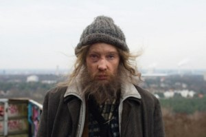 Cate Blanchett disguised as a homeless man
