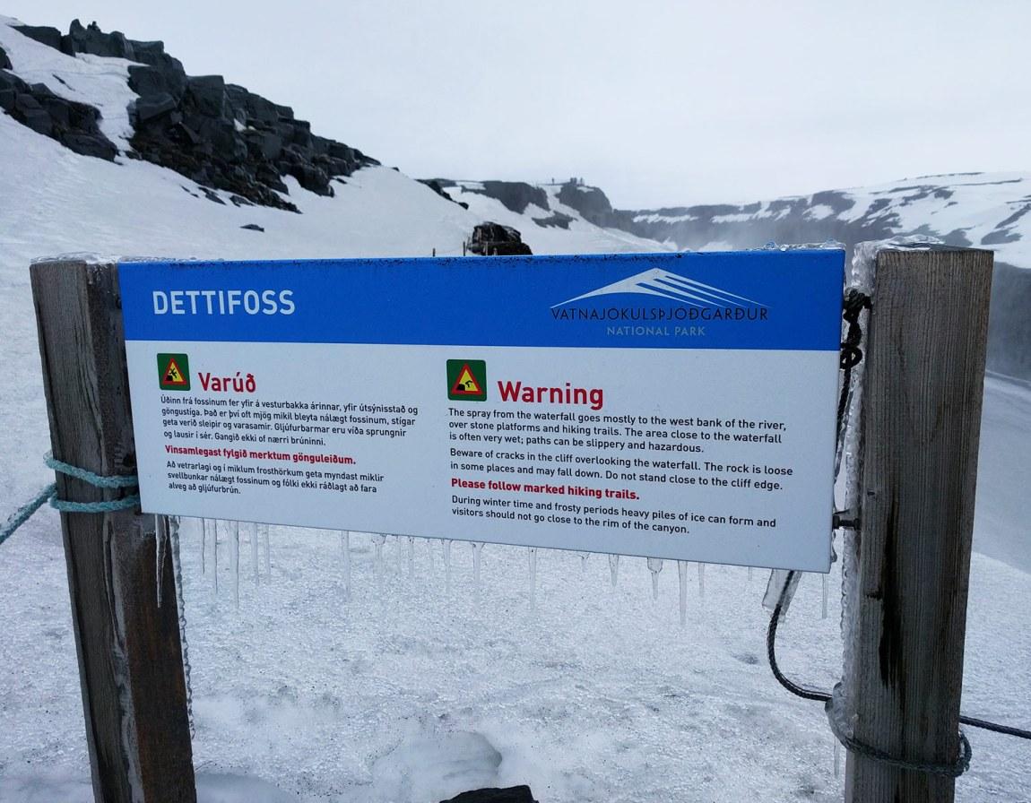 Dettifoss sign