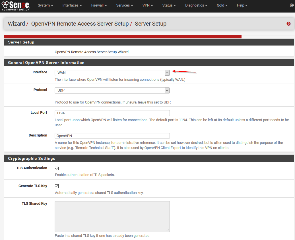 Configure openvpn for pfsense 23 step by step 17 almost done folks now head over to openvpn client export utility under interface ip address choose your no ip dns name for example xflitez Image collections
