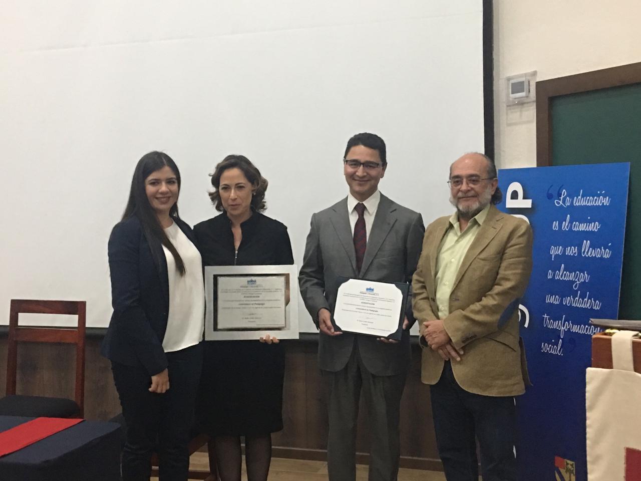 Entrega de acreditación a UP Aguascalientes