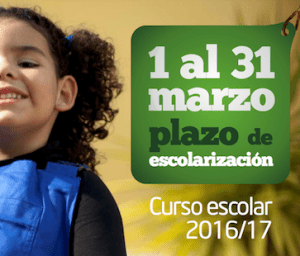 Captura Cartel Escolarización 16-17