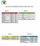 RUTAS TRANSPORTE ESCOLAR 2021-2022