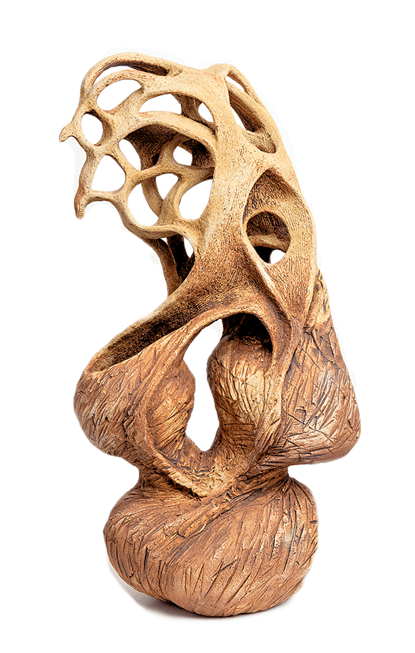 Dancing Spirit Birds Ceramic Sculpture