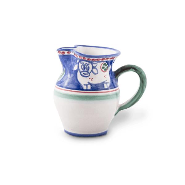 Handmade pottery small shaped jug