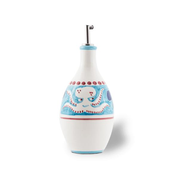 Handmade pottery oil bottle| Ceramica Assunta Positano