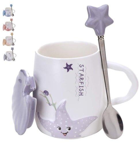 Adorable ceramic coffee mug