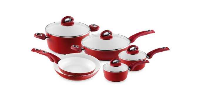 Bialetti Aeternum 10 piece ceramic nonstick cookware set