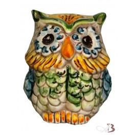 Portarotolo (scottex) in ceramica di caltagirone, fatto a mano. Gufo In Ceramica Piccolo Ceramiche Anna Boria