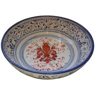Arredamento artistico, piastrelle decorative, piatti, decorazioni, deko,. Decorazione Giglio Rosso Su Fondo Bianco Ceramiche Artistiche Saltarelli Dario