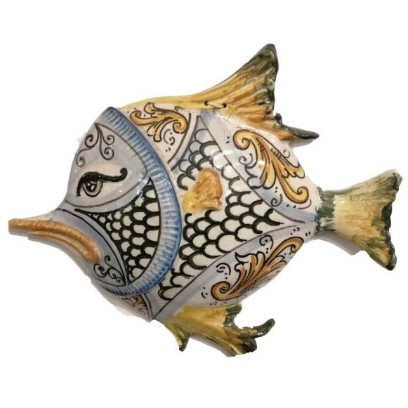La ceramica solimene nel filmato di francetv francetv presenta una serie di interessanti filmati dedicati alle eccellenze dell'artigianato italiano, non poteva mancare la ceramica artistica solimene, un racconto straordinario impreziosito anche attraverso la splendida cornice paesaggistica di vietri sul mare. Pesce In Ceramica Artistica Caltagirone Da Collezione Cm 30