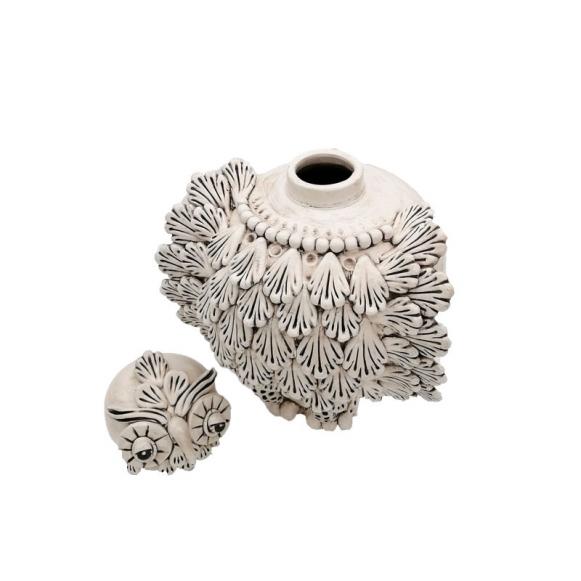 Coppia di teste di moro in ceramica di caltagirone. Gufo In Ceramica Caltagirone Cm 40