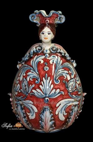Uovo di pasqua in ceramica di caltagirone realizza. Art 13 Obx051a Uova In Ceramica Di Caltagirone Ceramiche Sofia