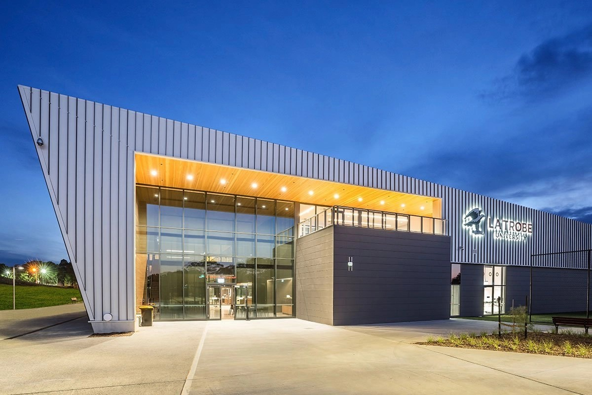 Ceramic Projects Latrobe Sports Centre Entry By Night