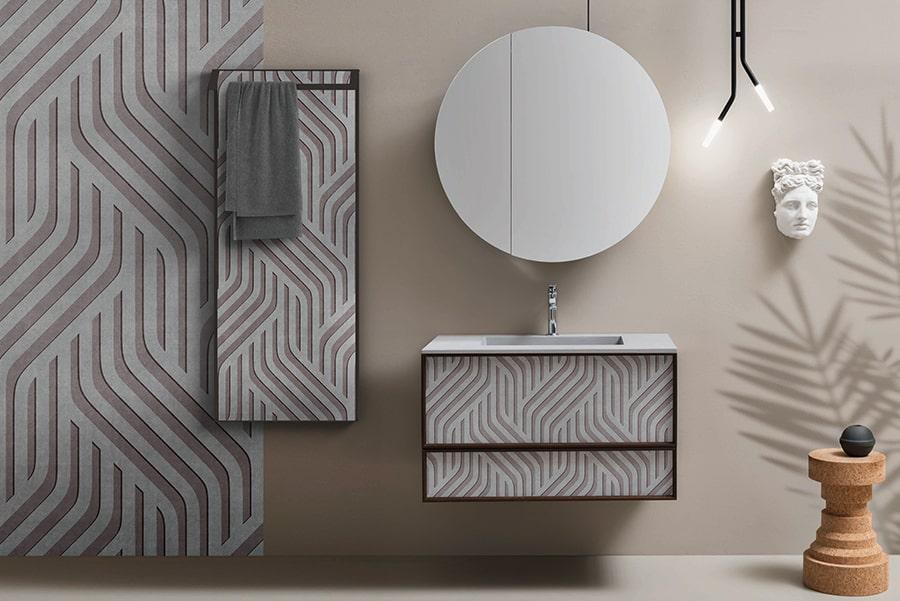 H2o è una speciale carta da parati in fibra di vetro che permette la decorazione dei bagni, dell'interno doccia e di tutti gli ambienti con alto tasso di umidità. Decorazioni Skinglass Cerasa Ha Reinventato La Carta Da Parati