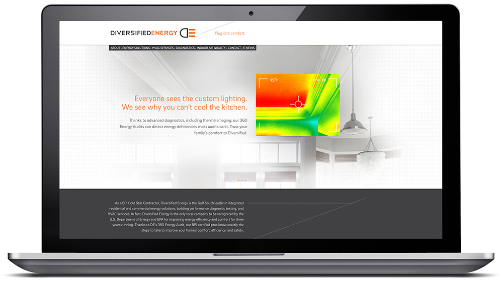 Diversified Energy Website by Cerberus, a full-service design, marketing, and web development company in New Orleans.