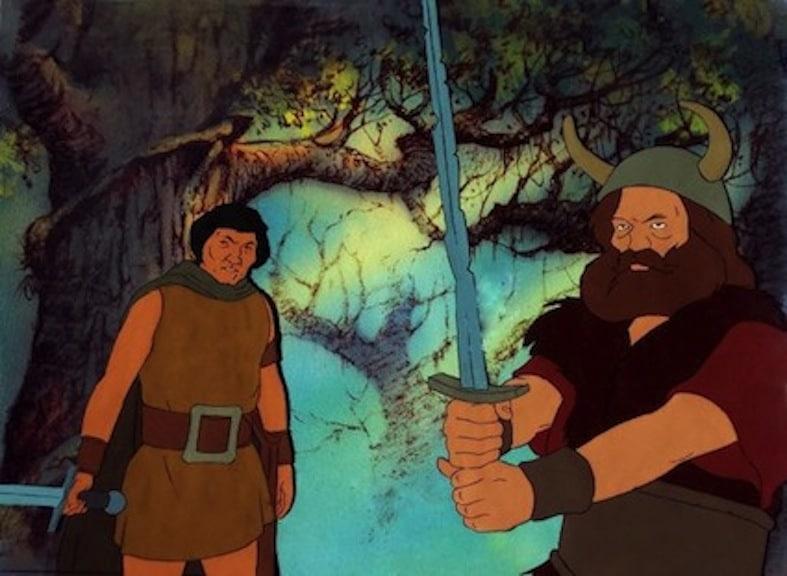 I vestiti di Aragorn e Boromir nel film di animazione