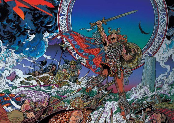 Il dio Nuada immaginato da Jim Fitzpatrick (fonte)