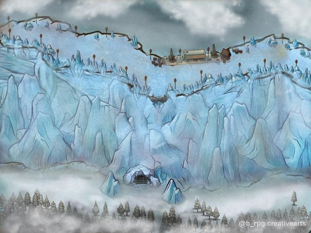 """Barriera di ghiaccio da """"le Cronache del Ghiaccio e del Fuoco"""""""