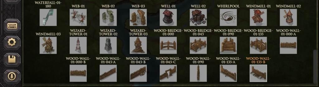 Le mura di legno fra cui scegliere