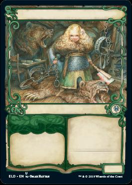 Riccioli d'Oro in pieno assetto da cacciatrice di orsi, una nuova tipologia di carta del Trono di Eldraine