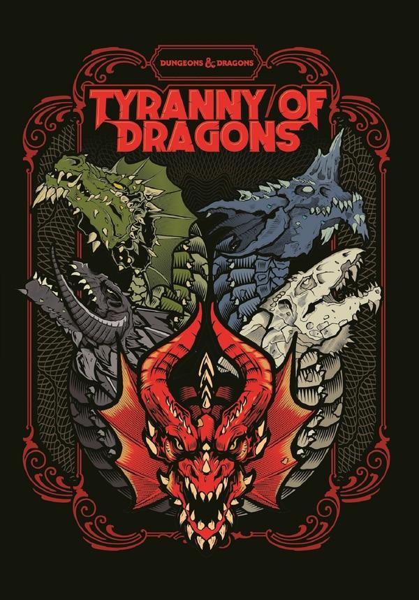 La nuova copertina di Tyranny of Dragons, terrificante e bellissima.