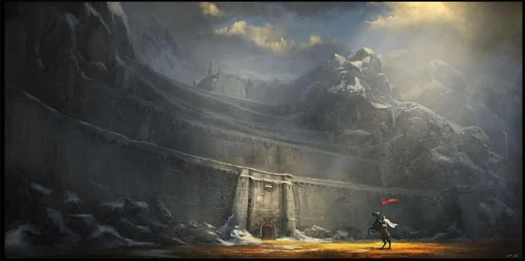 Le mura di Dross Delnoch immaginate da Gemmell