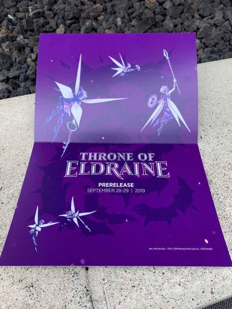 Un invito per l'evento di presentazione della nuova espansione di Magic: The Gathering Trono di Eldraine