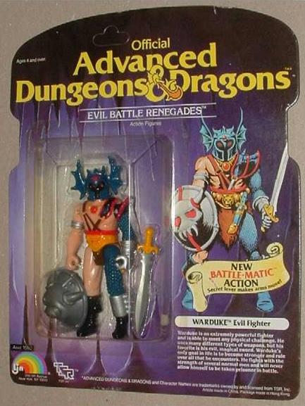 Il primo giocattolo di Warduke prodotto dalla TSR